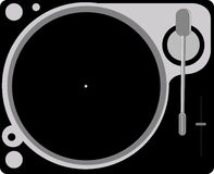 Turntable. Illustration of a dj's turntable Stock Photos