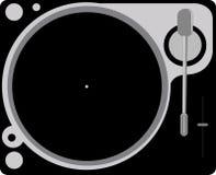 Turntable. Illustration of a dj's turntable stock illustration