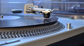 Turntable with the arm Stock Images