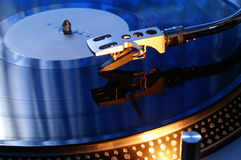 Turntable arm and vinyl record Royalty Free Stock Images