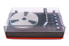 Turntable, audio, for playback of vinyl records, from the 70s of last century Stock Images