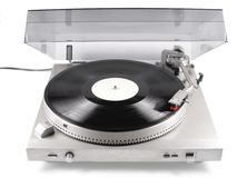 Turntable, audio, for playback of vinyl records, from the 80s of last century Stock Photo