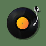Turntable. Background, music icon design Royalty Free Stock Photography