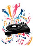 Turntable and Beats Royalty Free Stock Photo