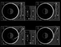 Turntable black B stock image