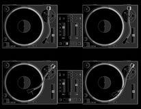 Turntable black B Stock Image