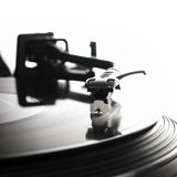 Turntable close-up. Close-up image of a record player Royalty Free Stock Image