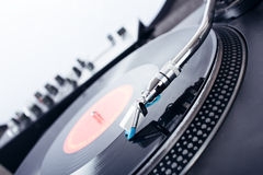 Turntable closeup Royalty Free Stock Photos