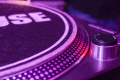 Turntable in a club Royalty Free Stock Image