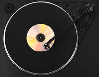 Turntable with colorful CD Royalty Free Stock Photos
