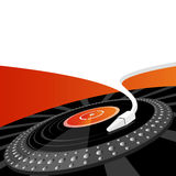 Turntable with copy space. Turntable vector illustration with space for your own text Royalty Free Stock Images