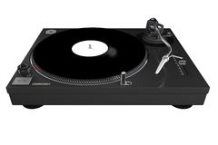 Turntable, dark grey, isolated royalty free stock photography