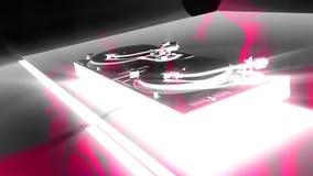 Turntable DJ Divas V1, HD 1080 Loop. DJ turntables, camera orbits, pink women composited into scene. HD 1080 Seamless Loop stock video footage