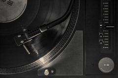 Turntable DJ Grunge Стоковое фото RF