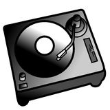 Turntable DJ Record Player. Digital Graphic Art Stock Images