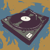 Turntable royalty free illustration