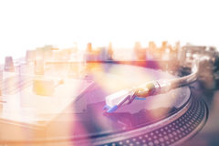 Turntable - double exposure Stock Photo
