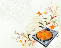 Turntable and flowers Stock Photography
