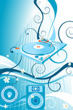 Turntable and flowers Royalty Free Stock Image