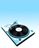 Turntable and flowers Stock Image