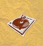 Turntable flyer 2_1 Royalty Free Stock Image