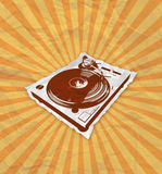 Turntable flyer 2_2 Stock Photo