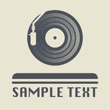 Turntable icon or sign Stock Images