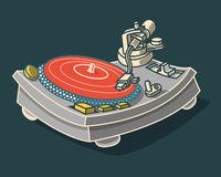 Turntable Illustration.  Vector Graphic. Stock Photo