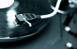 Turntable In Blue Tone-2 Royalty Free Stock Photography