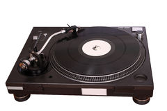 Turntable isolated on white Royalty Free Stock Photos