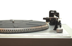 Turntable with isolated on white closeup Royalty Free Stock Photos