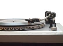 Turntable med det isolerade vinylrekordet Royaltyfri Bild
