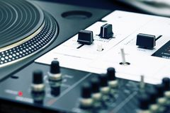 Turntable and mixing controller Royalty Free Stock Image