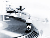 Turntable in motion Stock Photos
