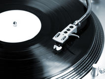 Turntable in motion. Royalty Free Stock Photo