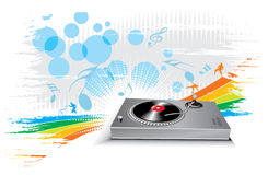 Turntable with music theme Stock Photography