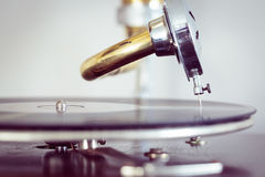 Turntable needle from a phonograph Royalty Free Stock Photo