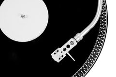 Turntable needle on a white plate Stock Photo