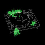 Turntable Outline Design. Turntable Outline Stencil Design vector Stock Photos