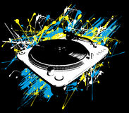 Turntable paint - vector Royalty Free Stock Photos