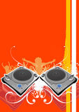 Turntable party background vector Stock Photography