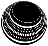 Turntable plate distorted. DJ's turntable plate heavily distorted Royalty Free Stock Photos