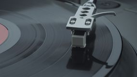 Turntable player with black vinyl record. Player with black vinyl recordg turntable player with black vinyl record stock video