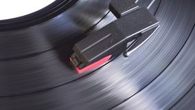 Turntable player. Turntable player,dropping stylus needle on vinyl of a spinning record playing stock video footage