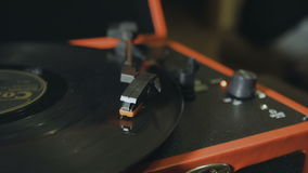 Turntable playing, player needle stock video footage