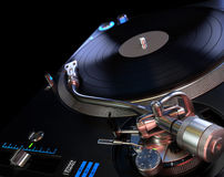 Turntable Playing Vinyl Royalty Free Stock Photo