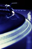 Turntable playing vinyl audio record royalty free stock photos