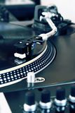 Turntable playing vinyl music record Stock Image