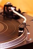 Turntable playing vinyl record stock images