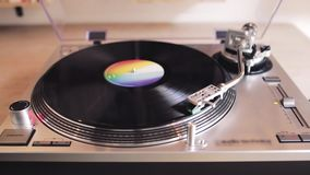 Turntable Playing Vinyl Record Close Up. / Template Concept / Video HD stock video